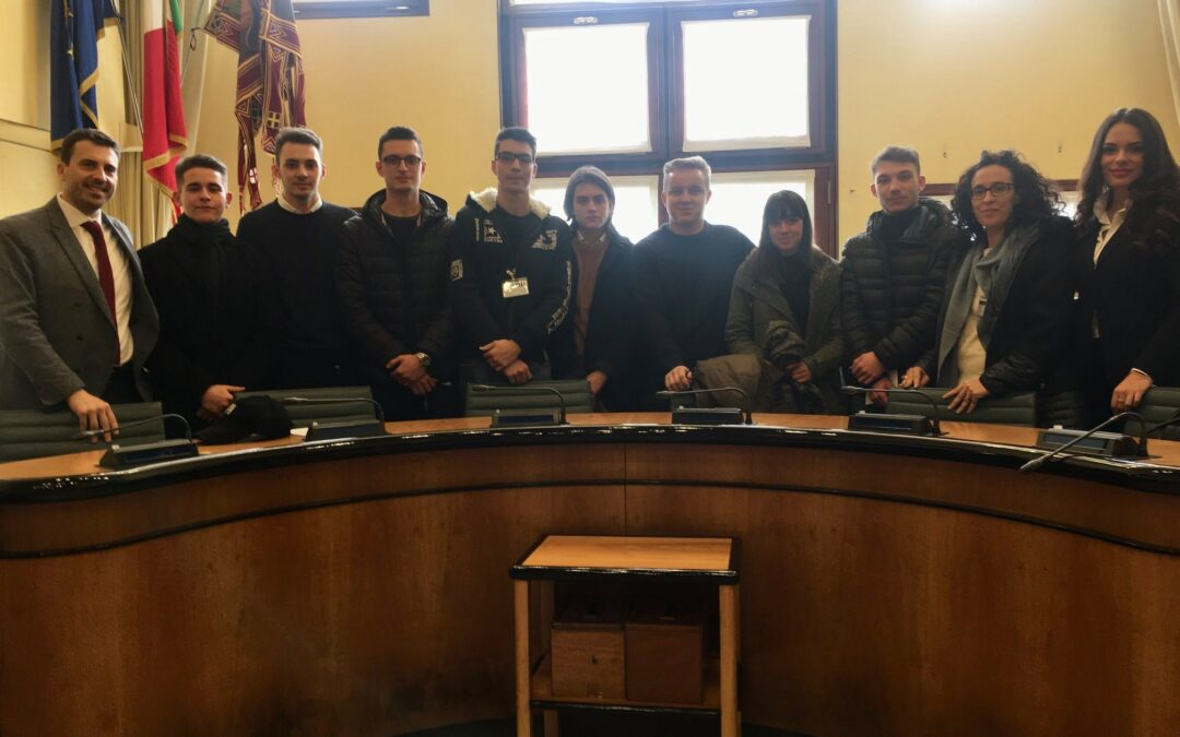 Una delegazione di studenti dell'Istituto Viola-Marchesini di Rovigo in Consiglio regionale del Veneto