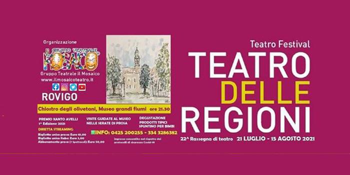 Dal 21 luglio al 15 agosto torna  il Teatro delle Regioni